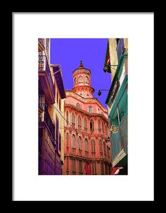 mediterranean island of Majorca, art photography, by mallorcacolors, art print for sale in Fine Arts America, colorful, pastel colors, blue and red, the streets of Mallorca as source of inspiration, digitally treated, fine art photography.  contemporary interior decoration and interior design