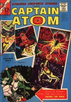 """""""The Wreck of X-44"""" was reprinted in Charlton Comics Strange Suspense Stories #76, from the 1958 Space Adventures (#36) series. """"The Wreck of X-44"""" X-44, the rocket-ship Captain Atom is testing, has been sabotaged by a spy apparatus. Written by the prolific Joe Gill with legendary Steve Ditko artwork. See my blog @ http://beachbumcomics.blogspot.com/"""