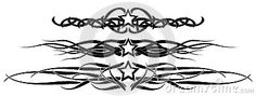 Set of black stars usable for decoration or tattoo