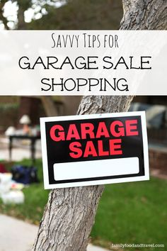 10 Savvy Tips for Garage Sale Shopping - Family Food And Travel