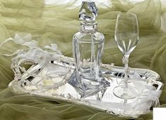 Greek Orthodox wedding accessories, wine decanter sets, handcrafted stefana carafe and wine glasses. Wine Decanter Set, Crystal Decanter, Wedding Themes, Wedding Favors, Greek Wedding Traditions, Orthodox Wedding, Christening Favors, Baptism Invitations, Champagne Glasses