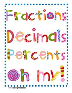 The focus of this lesson is to use art to teach fraction, decimal, and percent equivalents. The nine page file includes a bulletin board header, st...