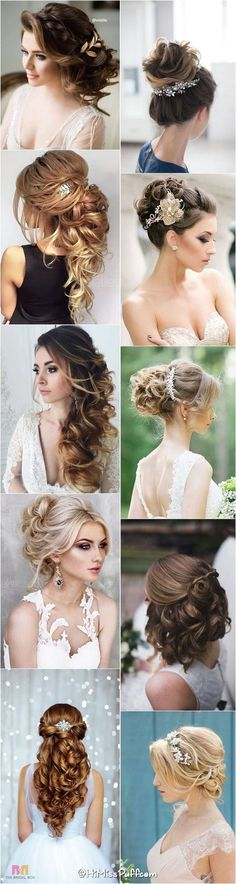 200 Bridal Wedding Hairstyles for Long Hair That Will Inspire / http://www.himisspuff.com/bridal-wedding-hairstyles-for-long-hair/: