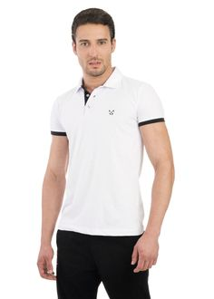 Camisa Polo Light Polo Live Branco e Preto - Vestaria 1929a9efe3