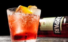 A twist on the classic Negroni cocktail that substitutes Prosecco for the gin.