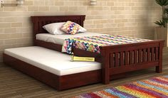 Bring Trundle Bed Online @ Wooden Street and enjoy extra sleeping space with these Twin Trundle Beds. Choose from cool range of Trundle Beds available online and get discount. Browse Trundle Bed in NCR Wooden Trundle Bed, Twin Trundle Bed, Buy Beds Online, Wood Platform Bed, One Bed, Kid Beds, Bedroom Furniture, Wooden Street, Kids Study