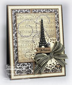 Eiffel Tower  Mini Wavy Pennants  Decorative Doily Duo