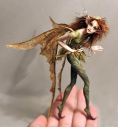~*~ OOAK Fairy Art Doll ~*~ Shy Forest Fairy ~*~