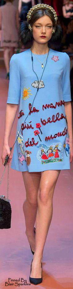 Fall 2015 RTW Dolce & Gabbana  ♕♚εїз | BLAIR SPARKLES