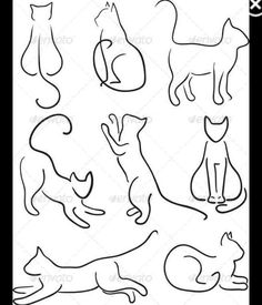 27 Best Cat Outline Tattoo Images In 2017 Cat Outline Tattoo