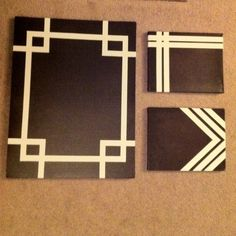 Diy canvas art 787285578591962206 - Ideas diy art easy canvas masking tape Source by White Canvas Art, Diy Canvas Art, Canvas Crafts, Diy Wall Art, Diy Art, Canvas Ideas, Wall Paint Patterns, Painting Patterns, Tape Painting