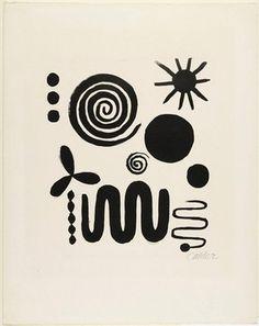 Alexander Calder, Untitled 1946 // modern, abstract black & white art -- looks like candy to me Alexander Calder, Art Plastique, White Art, Black And White Abstract, Black White, Oeuvre D'art, Art History, Art Inspo, Modern Art