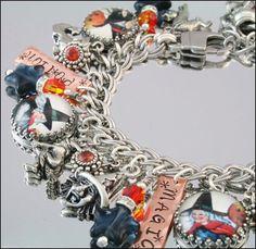 Wiccan Charm Jewelry, Witches Charm Bracelet, Pagan Jewelry, The Mystic Witch Silver Charm Bracelet, Charm Jewelry, Silver Charms, Pendant Jewelry, Charm Bracelets, Wiccan Jewelry, Halloween Jewelry, Personalized Jewelry, Diamond Cuts