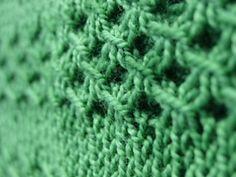 Irish Mesh Stitch Pattern, plus free pattern for Irish Mesh Cowl  by Jo Strong.