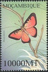 Stamp: Cell-barred Metalmark (Mesene phareus) (Mozambique) (Fauna) WAD:MZ107.02