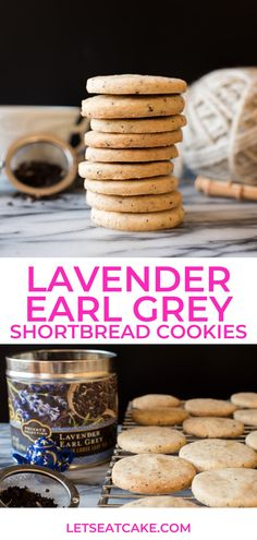 Lavender Earl Grey Shortbread Cookies made with Private Selection Tea! These delicate shortbread cookies are infused with a refreshing lavender earl grey tea. #ralphs #krogerco #privateselection #sponsored #tea #shortbread #shortbreadcookies #teacookies #cookies #baking #holidays @Kroger Delicious Cookie Recipes, Easy Cookie Recipes, Easter Recipes, Tea Cookies, Shortbread Cookies, Yummy Cookies, Sugar Cookies, Easy Chocolate Chip Cookies