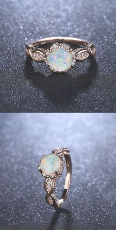 Virant opal rose gold ring Gold Rings Jewelry, Sterling Silver Rings, Gold Jewellery, Wedding Rings Rose Gold, Wedding Gold, Wedding Shoes, Ring Rosegold, Black Opal Ring, Or Rose