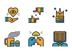 Creative Learning Icon Set by Becris #Design Popular #Dribbble #shots