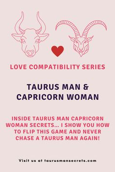 """Amazing Secrets Help A Capricorn Woman Understand, Attract And Keep A Taurus Man Until He Gets Down On One Knee & Prays For Her Love & Devotion... — And These Truths Turn Any Capricorn Woman Into His """"One & Only"""" Even If You Don't Yet See How You Can Be Really Compatible! Taurus Man Capricorn Woman, Capricorn Love, Love Compatibility, The Secret, Truths, Love Her, Pray, Amazing, Women"""