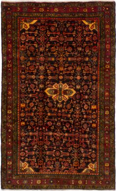 """Persian Borchelu 5'3"""" x 8'7"""" Hand-knotted Rug"""