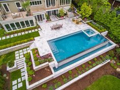 If you can dream it, we can build it! Request a free consultation and estimate by phone or online to get started planning your dream backyard oasis today! Backyard Pool Landscaping, Backyard Pool Designs, Small Backyard Pools, Swimming Pools Backyard, Swimming Pool Designs, Outdoor Pool, Infinity Pool Backyard, Infinity Edge Pool, Luxury Swimming Pools