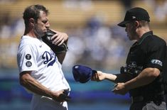 Dodgers: Max Scherzer clearly 'furious' after Clayton Kershaw single Clayton Kershaw, World Series, Batting Average, Dodger Blue, Dodgers Baseball, Chin Up, Los Angeles Dodgers, Champs