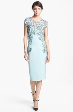 Lela Rose Hand Placed Lace Sheath Dress available at #Nordstrom