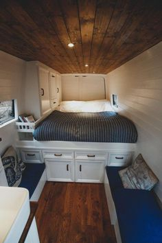 Emily and Robs Sprinter Van Conversion Interior