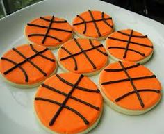 Easy way to decorate basketball sugar cookies with fina's recipe