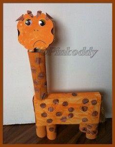Adorable sad giraffe craft idea