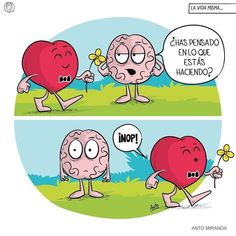 ¡Atrévete a dar el primer paso! 👉@mujeresinteresantes 👈 #mujeresinteresantes 😍 Crédito Crazy Heart, Heart And Mind, Heart Vs Brain, Cardio, I Need You Love, Work Jokes, Bad Romance, Fun Comics, Funny Love