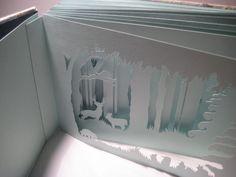 "hand cut artist's book <a href=""/search?q=paper"" class=""pintag"" title=""#paper search Pinterest"">#paper</a>"