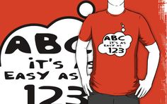 ABC its as easy as 123 T-shirt by Bubble-Tees.com by Bubble-Tees