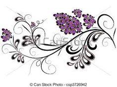Image result for desenhos de ramos de flores