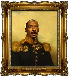 """Russian generals portraits ; ) in Napoleonic era:  Eddie Murphy by tumbler's """"Replaceface"""" British artist George Dawe • see 329 celeb portraits + add your faces http://replaceface.tumblr.com • buy prints i.e. 8x9 $25 via society6.com"""