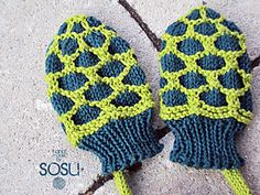 Turtle Baby Mittens by sosu ~ free pattern