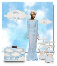 """""""Sky Blue, Baby!...by tt"""" by fowlerteetee on Polyvore featuring Elie Saab, Natasha Couture, Valentino, SkyBlue and favoritecolor"""