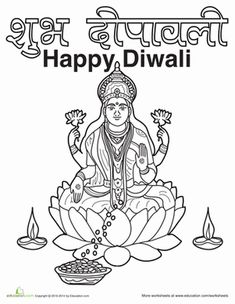 indian diwali coloring pages - photo#25
