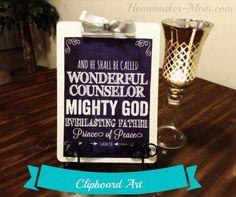 cheap cute clipboard art, christmas decorations, crafts, repurposing upcycling, seasonal holiday decor