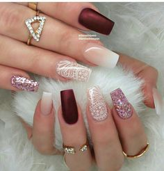 "May 2020 - Explore weddingsonlyin's board ""Bridal Nail Art Designs Lace Nails, Pink Nails, Perfect Nails, Gorgeous Nails, Stylish Nails, Trendy Nails, Hair And Nails, My Nails, Coffin Shape Nails"