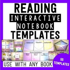 Reading Interactive Notebook- These can be used in many ways in your classroom. The foldable flip books can be used in a file folder to create lapbooks, or glue them into your reading interactive notebooks! The flip books are left blank on the inside for 5th Grade Classroom, Classroom Ideas, Text To World, Text To Text, Transition Words, 3rd Grade Reading, Guided Reading, Interactive Notebooks, Reading Notebooks