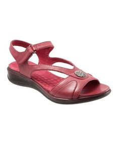 Another great find on #zulily! Red Toledo Sandal by SoftWalk #zulilyfinds