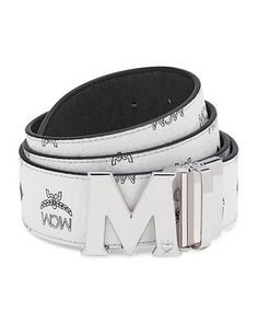 152fa03b9bdd MCM Visetos Reversible M-Buckle Monogram Belt