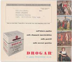 Volantino Stabilimento Giuliani farmaco Drogar Milano 1962 -L4463