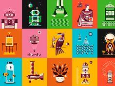 Label Illustrations by Martin Azambuja