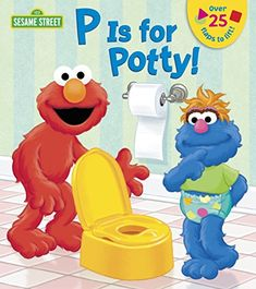 P is for Potty! (Sesame Street) (Lift-the-Flap) Board book P is for Potty! (Sesame Street) (Lift-the Potty Training Books, Toddler Potty Training, Toilet Training, Toddler Books, Childrens Books, Sesame Street Books, Best Potty, Books For Boys, Tot School