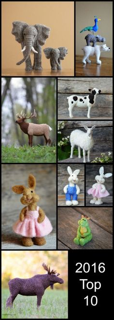 Top 10 Needle Felted Sculptures of 2016 by Teresa Perleberg - Bear Creek Felting