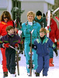 LET IT SNOW In March  during their pre-Easter break, William, 11, and Harry, 9, return to the slopes in Lech, Austria, with mom Diana for a week-long ski trip that had become an annual family tradition.