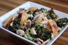 Irresistible Mandarin Roasted Broccoli Salad recipe by Barefeet In The Kitchen