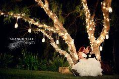 romantic evening wedding photography